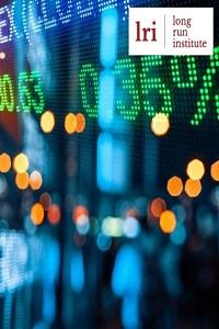 Stock market graphic with LRI logo
