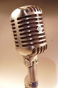Gold retro 50's style microphone