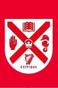 Queen's University Belfast, Coat of Arms red/white on red background