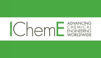 IChemE - Institution of Chemical Engineers logo with the letters I and the final E in green and additional wording 'Advancing Chemical Engineering Worldwide to the right
