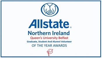Allstate NI logo with call for nominations for Graduate, Student and Alumni Volunteer of the Year Awards