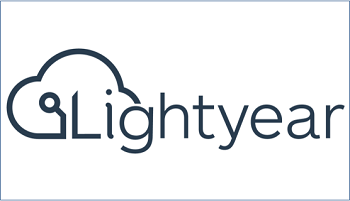 Lightyear company logo - name on cloud line graphic