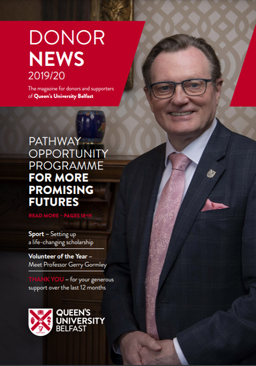 Donor News with Vice Chancellor on cover